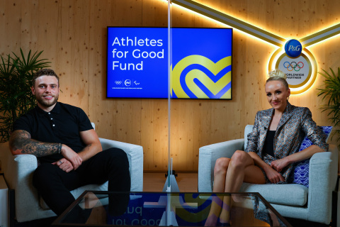 5x Olympic medalist Nastia Liukin and Olympic silver medalist Gus Kenworthy connect with Tokyo 2020 athletes at a panel hosted by P&G about how they are stepping up for acts of good in their communities. (Photo: Business Wire)