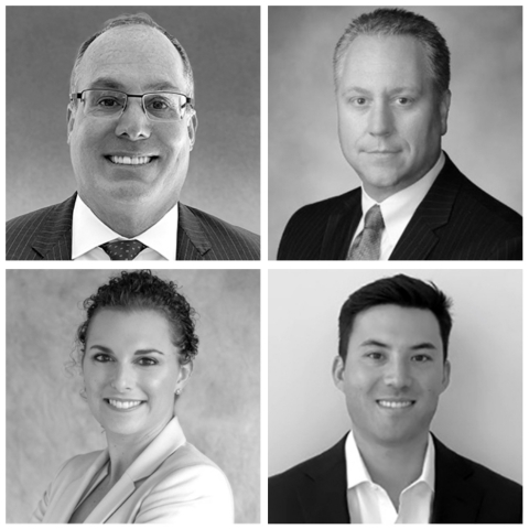 Clockwise from upper left: Brent McDonald, Chris Benson, Adam Davis, and Casey Webb. (Photo: Business Wire)