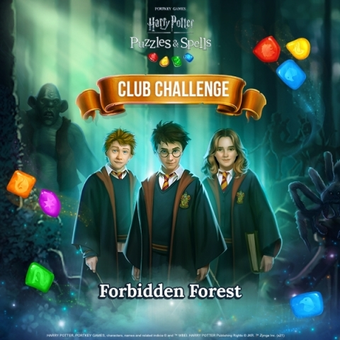 Magical Match-3 mobile game, Harry Potter: Puzzles & Spells, releases 'Club Challenge' event in-game. (Graphic: Business Wire)