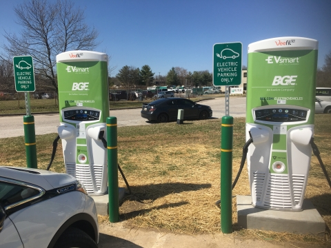 Tritium, BG&E and Greenlots work together to enhance electric vehicle charging infrastructure in Central Maryland communities. (Photo: Business Wire)