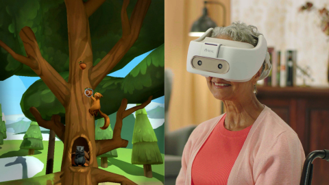 REAL® Immersive System i-Series™ offers engaging, immersive, gaze-based experiences and activities to a broad range of care providers and mental health professionals. (Photo: Business Wire)