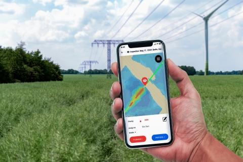 Informationen über kritische Vegetation entlang des Netzes sind über LiveEO's Smartphone App zugänglich. (Photo: Business Wire)