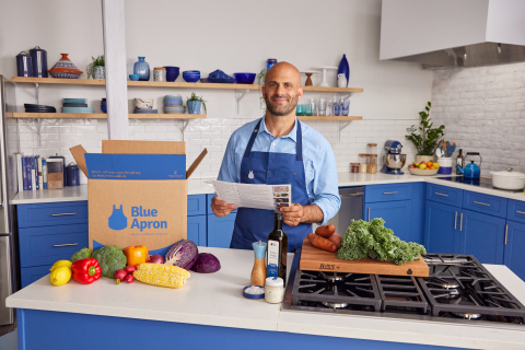 Blue Apron partners with Chef Sam Kass to bring his flexible and non-prescriptive cooking approach to kitchens around the country. (Photo: Business Wire)