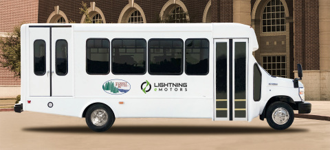 The zero-emissions vehicles that Forest River and Lightning eMotors will co-produce are Class 4 and 5 shuttle buses with gross vehicle weight ratings ranging from 14,500 to 19,500 pounds. (Photo: Business Wire)