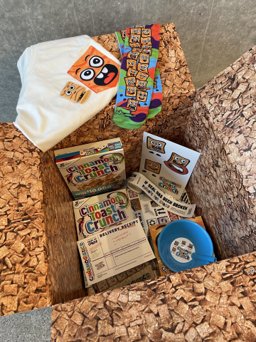 Cinnamon Toast Crunch is launching an exclusive sweepstakes – made just for teens – that promises free cereal and premium swag via a Cinnamon Toast Crunch package delivered right to their door. (Photo: Business Wire)