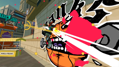 Bomb Rush Cyberfunk from Team Reptile: In this graffiti-action-adventure, grind, paint and combo your way up to become an All City King, one of the best graffiti artists in a sprawling metropolis. Expand your crew with additional playable characters and make use of the intuitive trick system to get around town. All of this is backed by beats from genre-breaking artists, including Hideki Naganuma. Bomb Rush Cyberfunk launches as a timed console exclusive on Nintendo Switch in 2022. (Graphic: Business Wire)