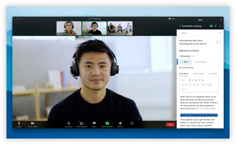 Actionable Meetings by Wrike app for Zoom (Photo: Business Wire)