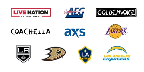 CEOs from the two largest live entertainment and ticketing companies, Live Nation Entertainment and AEG, and the owners of five Southern California professional sports franchises, including Los Angeles Lakers, LA Kings, Anaheim Ducks, LA Galaxy and Los Angeles Chargers, have each decided to require that all full-time employees working at eligible company offices in the U.S. be fully vaccinated against COVID-19 with limited exceptions as required by law. (Graphic: Business Wire)