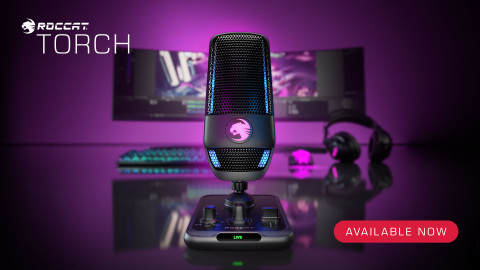 ROCCAT's all-new Torch USB microphone delivers studio-grade recording performance for $99.99 and is available at participating retailers worldwide. (Photo: Business Wire)