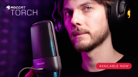 The Torch's $99 price makes it a great option for anybody looking for a high-quality USB microphone. The Torch's professional-grade features and performance make it the perfect companion to grow alongside aspiring creators as they become fulltime streamers. ROCCAT's Torch microphone is now available at participating retailers worldwide. (Photo: Business Wire)