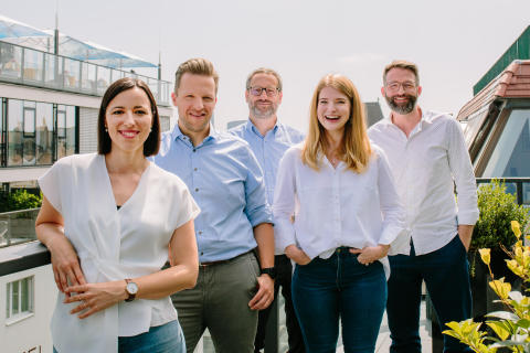 Image copyright of Carina Brunthaler Adverity's Management Team (left to right): Christina Schlesinger (Chief Customer Officer), Andreas Glänzer (Chief Operating Officer), Alexander Igelsböck (Chief Executive Officer), Harriet Durnford-Smith (Chief Marketing Officer), Martin Brunthaler (Chief Technology Officer)