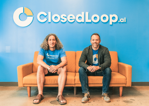 ClosedLoop.ai co-founders Dave DeCaprio, CTO, left, and Andrew Eye, CEO, announced a $34 million Series B on Aug. 17, 2021. (Photo: Business Wire)