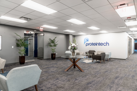 Proteintech's new headquarters triples in size and includes both office and laboratory space. (Photo: Business Wire)