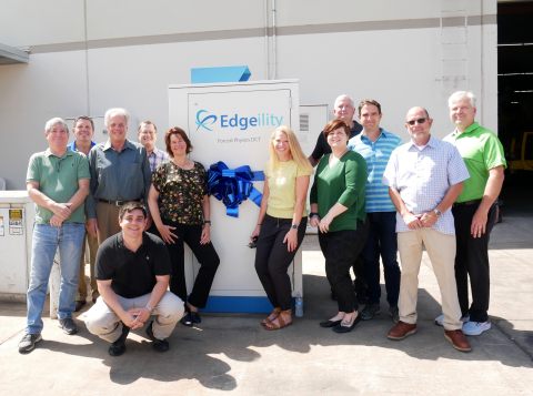 The Forced Physics DCT & Sun West Engineering team celebrate their first Edgeility System installation - a micro data center cooled with proprietary JouleForce® technology. (Photo: Business Wire)