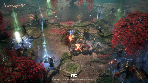 NCSOFT revealed its new mobile MMORPG 'Lineage W'. The game features a dark fantasy world presented with full 3D graphics and quarter view; various visual aspects transforming imagination to reality; a battle system succeeding the originality of Lineage IP with enhanced strike feedback; immersive storylines and diverse narratives; improved content for pledges and alliances. Global pre-registration available from 10 AM, August 19 (KST) on the official website, Google Play, and App Store. (Graphic: Business Wire)
