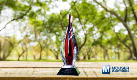 Mouser Electronics has received the Global High Service Distributor of the Year Award for the seventh time from TE Connectivity. The award recognizes Mouser's 2020 performance based on sales growth, market share growth, customer growth and business plan performance. (Photo: Business Wire)