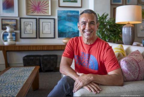 B.J. Kobayashi, Chairman and CEO of BlackSand Capital, shown here at the Kaimana Beach Hotel in Waikiki, Hawaii. (Photo: Pacific Business News)