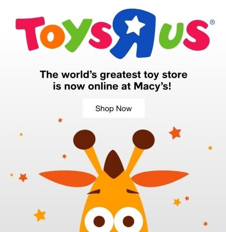 """Macy's and WHP Global partner to bring universally beloved Toys""""R""""Us brand back to American shoppers (Graphic: Business Wire)"""