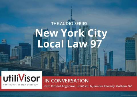 utiliVisor In Conversation with Richard Angerame, utiliVisor, and Jennifer Kearney, Gotham 360, discusses New York City Local Law 97, its impact on building owners, tenants, and brokers. LL97 caps carbon dioxide and other greenhouse gases (known collectively as carbon equivalent, or CO2e) for buildings within the five boroughs larger than 25,000 square feet or campuses larger than 50,000 square feet. This series of audio episodes address what Local Law 97 is, its implications, mitigation possibilities, submetering advantages, C-PACE, and lease considerations. (Graphic: Business Wire)