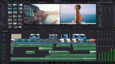 DaVinci Resolve 17.3 adds support for a completely new processing engine that transforms the speed of DaVinci Resolve to work up to 3 times faster on Apple Mac models with the M1 chip. Now customers can play back, edit and grade 4K projects faster, and can even work on 8K projects on an Apple M1 notebook. (Photo: Business Wire)