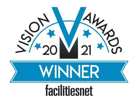 """The FacilitiesNet.com """"2021 Vision Awards"""" honor innovation and excellence in products contributing to the efficient, profitable operations and management of institutional and commercial buildings in the United States."""