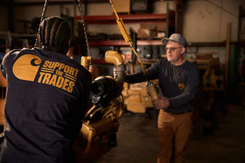 Limited edition Carhartt t-shirts are now on sale at Tractor Supply stores nationwide with a portion of the proceeds to support SkillsUSA and its mission of closing the skilled trades gap. (Photo: Business Wire)