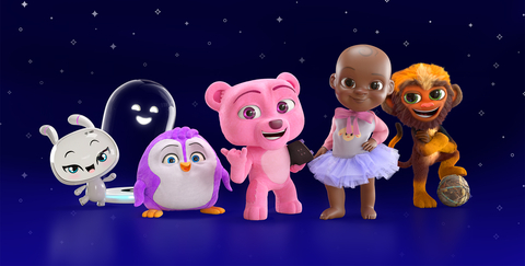 Invisible Universe, an entertainment technology company, reveals it is behind the most popular, celebrity-backed animated characters on social media including - from left to right - Kayda & Kai (Karlie Kloss' new and already TikTok famous robot and her docking station), Squeaky & Roy (the long lost toys of the D'Amelio family, reunited with them in Los Angeles), Qai Qai (Serena Williams' daughter's doll brought to life), and Crazynho (a happy-go-lucky monkey living with Brazilian soccer star Dani Alves). (Graphic: Business Wire)