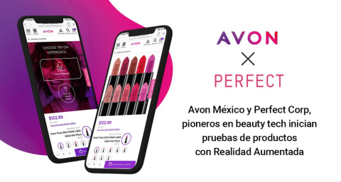 Perfect Corp. Partners With Avon to Empower Its Sales Channel With Augmented Reality Technology (Graphic: Business Wire)