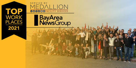 Service by Medallion Top Workplaces 2021 Winners (Graphic: Business Wire)