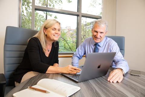 John A. Josey, PhD, Acting CEO of Atavistik Bio, and Marion Dorsch, PhD, President and CSO. (Photo: Business Wire)