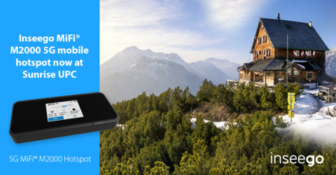 Inseego 5G MiFi M2000 now at Sunrise Switzerland (Photo: Business Wire)