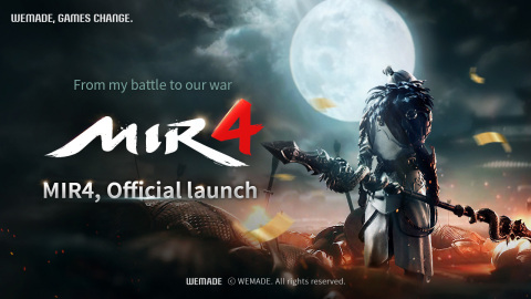 Blockbuster MMORPG 'MIR 4' by Wemade Co., Ltd., with blockchain technology, is officially released in 170 countries and 12 languages on August 26. Blockchain technology enables the use of utility coins, DRACO, which can be exchanged for Darksteel, an essential resource used in MIR 4, and Non-Fungible Tokens (NFT) that players can experience through game characters. MIR 4 embodies the mysterious and elegant beauty of the Orient in an MMORPG game. It features High level of character customization, allowing players to fine-tune appearance; Clan, which enables players to progress and grow with other clan members; Free Loot, which enables players to strategize and to compete for treasure dropped by the field boss; Mystery, which gives the ability to travel around continents and unravel the hidden stories of MIR 4. (Graphic: Business Wire)