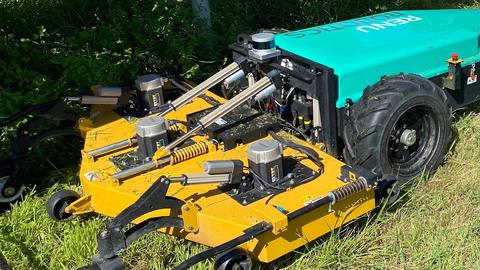 Renu Robotics' Renubot is a fully autonomous, all-electric mower equipped with Velodyne Lidar's Puck™ sensors. (Photo: Renu Robotics)
