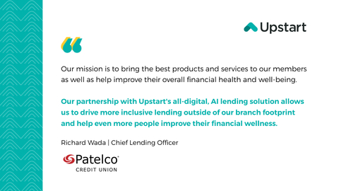 Quote from Richard Wada, Chief Lending Officer, Patelco Credit Union (Graphic: Business Wire)