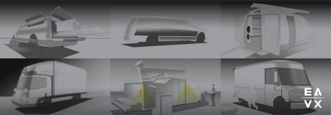 EAVX was formed to envision and develop next generation EV and AV powered delivery and work truck bodies and accessories. https://jbpoindexter.com/eavx/ (Photo: Business Wire)