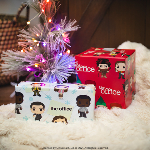 Funko Pop!-inspired wrapping paper featuring The Office characters. (Photo: Business Wire)