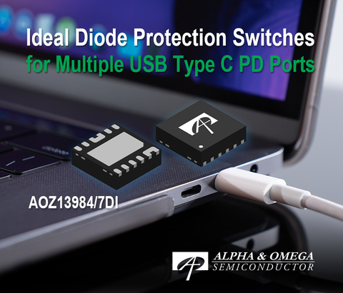 Smart protection switch provides industry-leading performance, up to 28V absolute maximum voltage and Ideal Diode True Reverse Current Blocking for Type-C PD applications (Graphic: Business Wire)