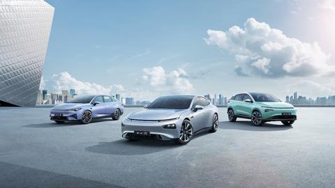 XPeng smart EV fleet (Photo: Business Wire)