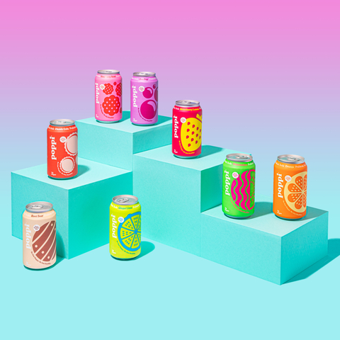 Poppi is available in nine delicious flavors – Watermelon, Strawberry Lemon, Raspberry Rose, Orange, Ginger Lime, Grapefruit, Cola, Root Beer, and DocPop – and is available for $2.49 per 12oz can. Visit www.drinkpoppi.com to learn more. (Photo: Business Wire)