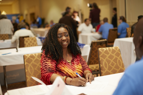Joyce Bell received home down payment assistance at the Philadelphia NeighborhoodLIFT event in 2016. Today's expansion of the NeighborhoodLIFT program follows similar initiatives in 2012 and 2016 that created more than 1,000 homeowners in Philadelphia with a combined $16 million provided by Wells Fargo. (Photo: Wells Fargo)