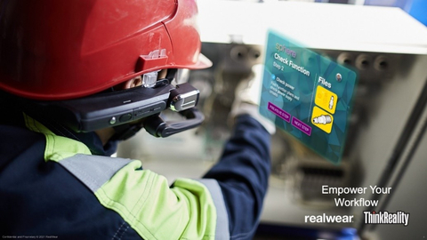 RealWear HMT-1 with ThinkReality (Photo: Business Wire)