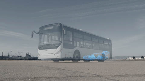 Wrightspeed Powered Transit Bus. The world's most efficient powertrain is modular, high torque, and can be adapted to any medium or heavy duty vehicle chassis. (Photo: Business Wire)