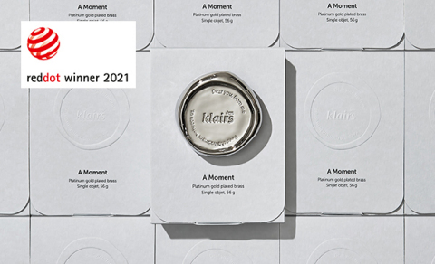 Dear, Klairs, a skincare brand under Wishcompany, won the 2021 Red Dot Design Award for Communication Design. Dear, Klairs is a cruelty-free and vegan-friendly skincare brand based in Seoul. A Moment was a collaboration project with a Seoul-based artisan, Yoon Yeo-Dong. Inspired by the brand's name, Dear Klairs, Yoon Yeo-Dong and the Klairs design team created a metal object that can be gifted to someone near and dear. Dear, Klairs received high marks for collaborating with a local artisan, Yoon Yeo-Dong and promoting social values through the A Moment design project. Klairs carries out donation projects for animal rights and environmental organizations. They are dedicated to promoting sustainability through their campaigns and projects. (Graphic: Business Wire)
