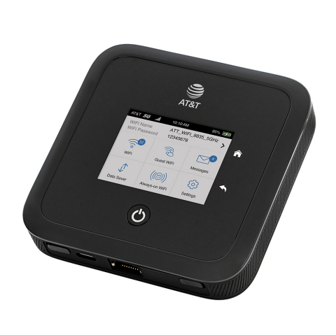 NETGEAR Nighthawk M5 5G WiFi 6 Mobile Router, available now, delivers Gigabit Internet speeds at home and on the go. (Photo: Business Wire)