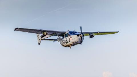 Logos Technologies' BlackKite IR WAMI Pod on a Cessna in flight. (Photo: Business Wire)