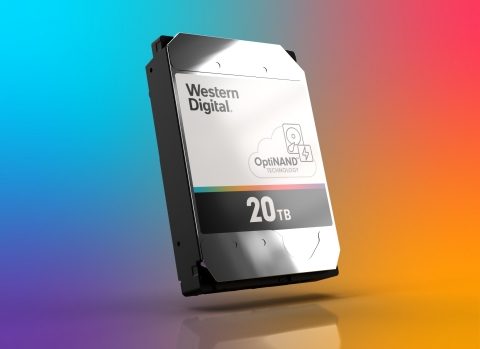Western Digital is now sampling 20TB 9-platter ePMR CMR OptiNAND hard disk drives to select customers, featuring an unsurpassed 2.2 TB per platter. (Photo: Business Wire)