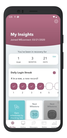 WEconnectRecovery now has a free version designed to support the more than 70 million Americans dealing with substance misuse and mental health issues. (Graphic: Business Wire)