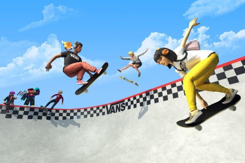 """Vans Launches """"Vans World"""" Skatepark Experience in the Roblox Metaverse (Graphic: Business Wire)"""