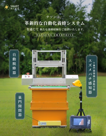 DAESUNG SMARTHIVE Automated Hive Controller which was honored with the Innovation Awards at the CES 2021 will be exhibited at the AGRI WEEK TOKYO 2021 and CES 2022. The SMARTHIVE Hive Controller is a portable smart beekeeping system that safely takes out honeycombs from beehives, brushes bees and stacks honeycombs outside beehives in approximately a minute. It boasts a lightweight of 9 kg without corrosion, and even a novice can use it alone to extract honey as its operation method is simple. Using this automated hive controller, beekeeping farms in Korea could reduce working time by 50% compared to the existing products, and it enabled one to extract honey alone. The Controller was highly evaluated at international trade shows, pitchings and IR held in 2021. The company continues to attain significant achievements, including signing the MOU with the Ministry of Agriculture of Ethiopia. (Graphic: Business Wire)