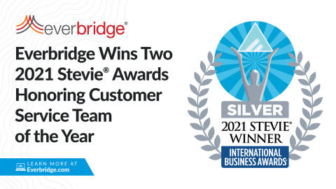 Everbridge Wins Two 2021 Stevie Awards Honoring Customer Service Team of the Year (Photo: Business Wire)